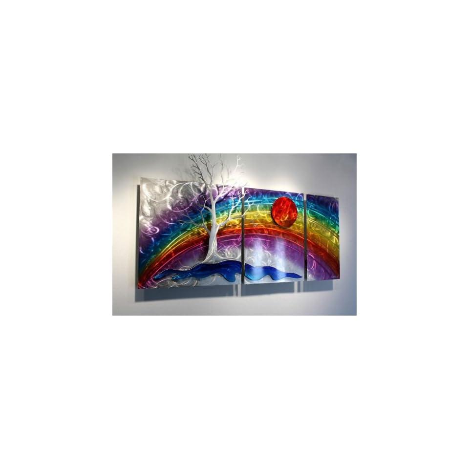 Multi Panel Metal Wall Decor Rainbow Art, Design by Alex Kovacs