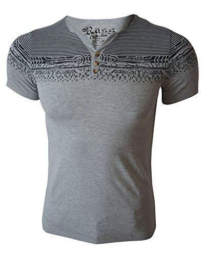 Rass Collection MFL-2676 Henley T-shirt - Men's Tee Shirts (Sheldon Quilt)