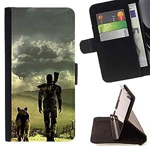 Momo Phone Case / Flip Funda de Cuero Case Cover - Apocalíptico perro;;;;;;;; - HTC One A9