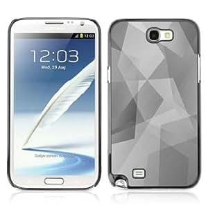 YOYOSHOP [Cool Polygon B&W Pattern] Samsung Galaxy Note 2 Case WANGJING JINDA