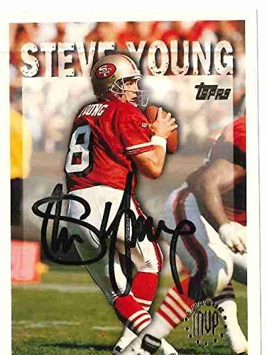 - Steve Young Signed Topps League MVP Football Card (JSA COA)