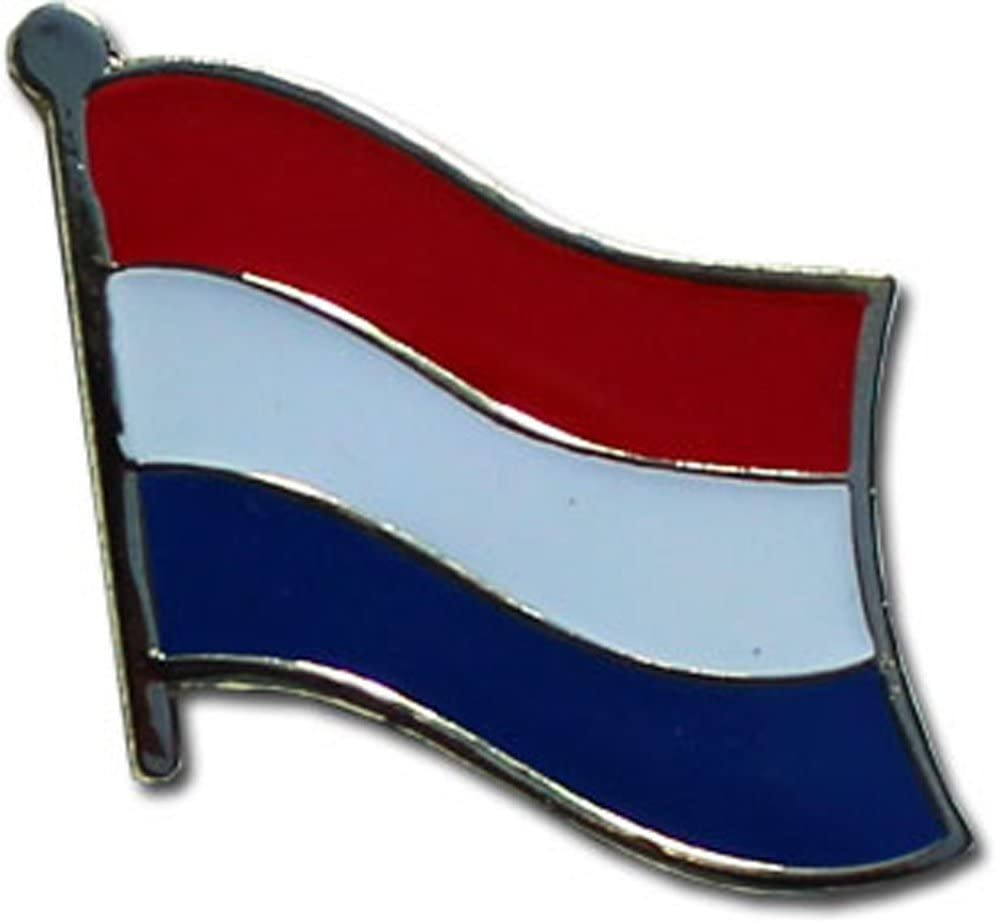 AES Netherlands Country Flag Bike Hat Cap lapel Pin