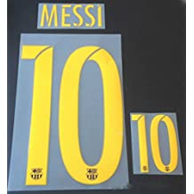 MESSI #10 Barcelona Home 2015-2016 Soccer Jersey Shirt Print Name/Number Set Adults