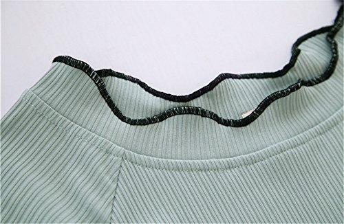 Infermieristica Maglietta Cotone Top Nursing Elegante Corta Verde shirt Manica Volant Ailient Camicetta Donna Breastfeeding Maternity Premaman Allattamento T waC0EnqfPx