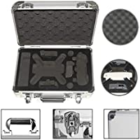 DZT1968 Retractable non-slip Waterproof Portable Carrying Storage Aluminum Case Box for DJI Spark FPV Drone 34.5x14.5x27