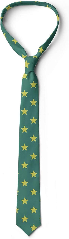 Vintage Geometry Pattern 3.7 Ambesonne Mens Tie Jade Green Pale Green