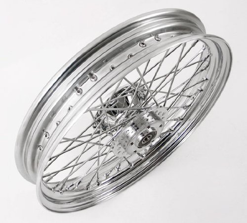 40 Spoke Chrome Billet Hub Front Wheel for Harley XL FDX