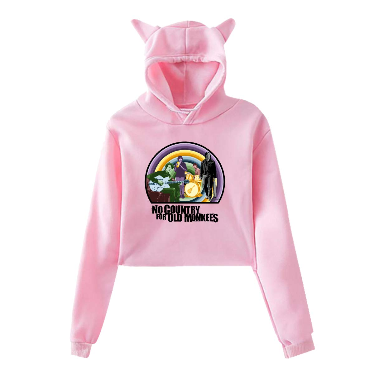 The MonkeesWomens Long Sleeve Cute Cat Ear Pullover Hoodie