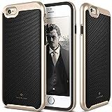 iPhone 6S Case, Caseology [Envoy Series] Premium Leather Bumper Cover [Carbon Fiber Black] [Leather Bound] for Apple iPhone 6S (2015) & iPhone 6 (2014) - Carbon Fiber Black