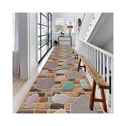 GUOF Corridor Runner Carpet Modern Low Pile Non-Slip Carpet/Corridor Entrance Sound-Absorbing Carpet Living Room Corridor Entrance Carpet (Size : 80cm12m)