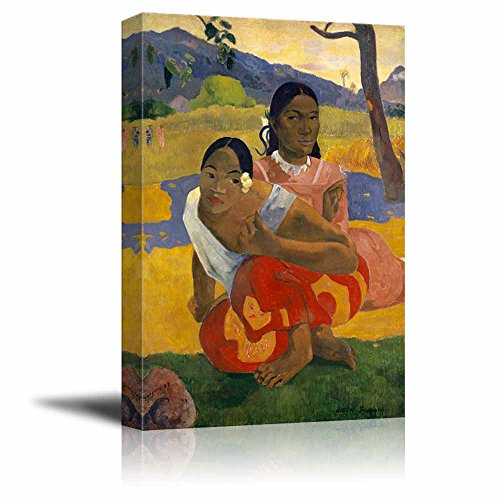 When Will You Marry? (Nafea FAA Ipoipo) by Paul Gauguin - Canvas Print Wall Art Famous Painting Reproduction - 16