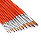 Watercolor Paint Brushes Set - 12Pcs Round Pointed