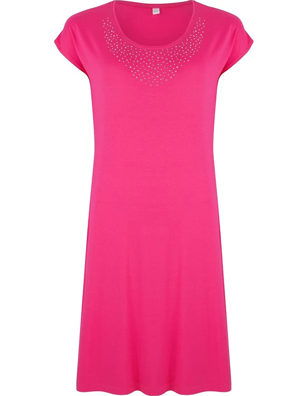 Pastunette 1071-373-2-265 Women's Red Pink Diamante Viscose Kaftan