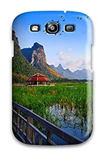 Tpu Case Cover Compatible For Galaxy S3/ Hot Case/ Lake Bridge Thailand Holiday Wallpapers