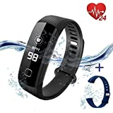 L8star Waterproof Fitness Tracker Smart Watch-Smart Activity Tracker with Continuous Heart Rate Monitor,Sleep Monitor, Calorie Burn Tracker, Pedometer, Blood Pressure for Women, and Men Kids