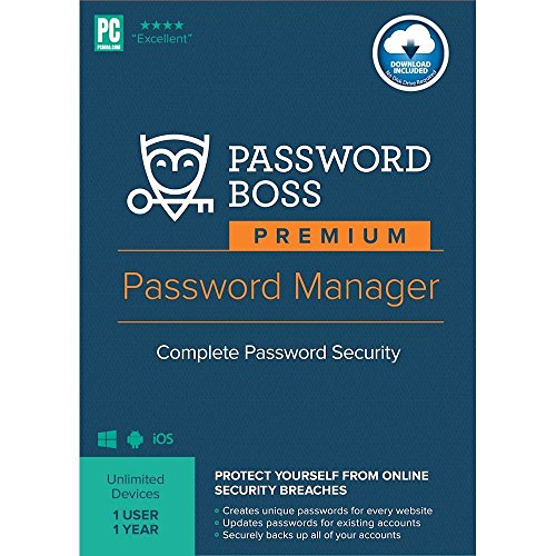 Price comparison product image Password Boss Premium Password Manager (1-User) (1-Year Subscription) - Android / Windows / iOS