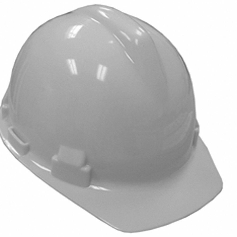 JONES H40-002 WHITE SAFETY HAT W/4 PT PINLOCK SUSP MC375504