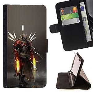 Momo Phone Case / Flip Funda de Cuero Case Cover - Héroe Guerrero;;;;;;;; - Sony Xperia Z5 5.2 Inch (Not for Z5 Premium 5.5 Inch)