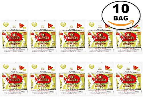 WHOLESALE 10 Pack Gold Label the Original Thai Iced Tea Mix Number One Brand Imported From Thailand Great for Restaurants That Want to Serve Authentic and Thai Iced Teas 400 G. by Number-One