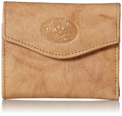 Buxton Women's Genuine Leather Heiress Mini Trifold Wallet (Tobacco)