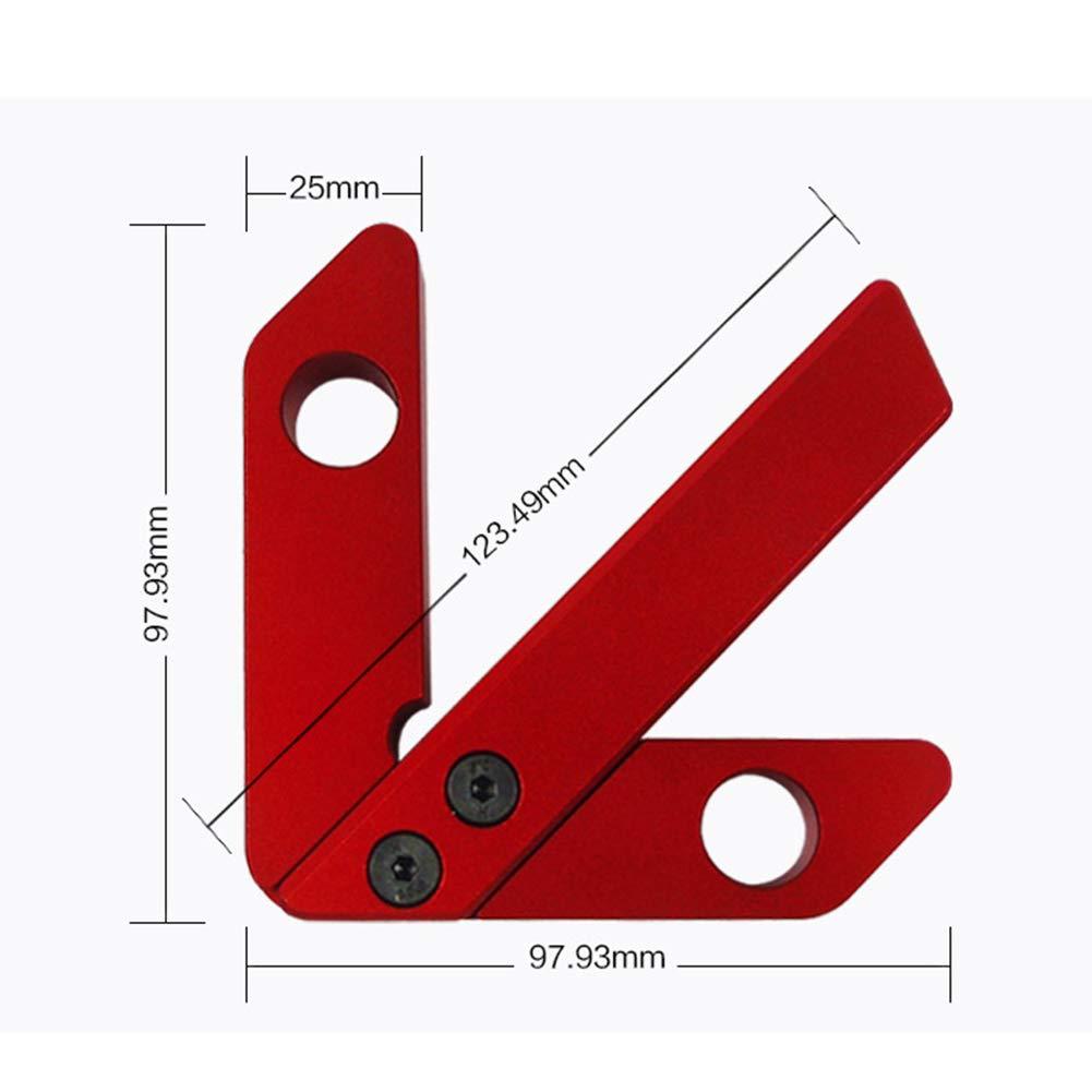Centro de carpinter/ía Cuadrado Regla de Carpintero /ángulo Recto de 45//90 Grados 130mm Measuring Range Cuadrado Small HINMAY Buscador de Centro Herramienta de medici/ón de carpinter/ía