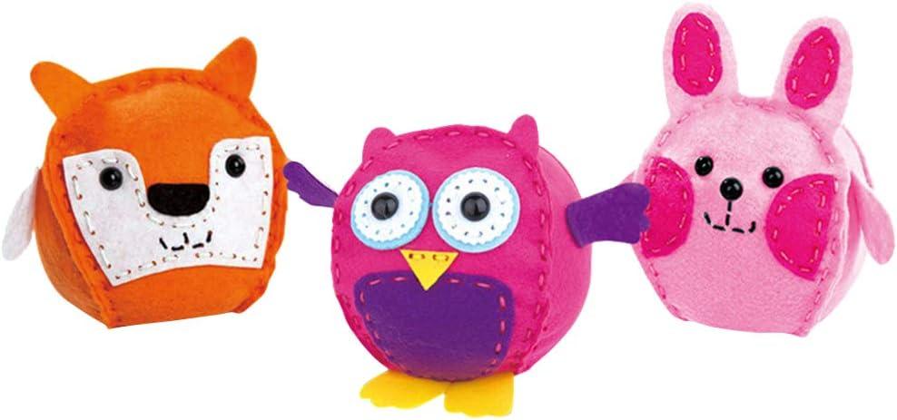 TOYANDONA 3 Piezas Kit de Costura para Niños, Kit de Manualidades para Coser Y Coser Animales de Peluche para Niños