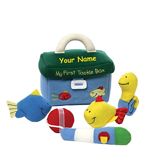 - Personalized GUND My First Tackle Box Plush Stuffed Baby Playset with Mini Accessories