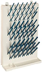 "Bel-Art Scienceware 189330013 Lab-Aire II Single-Sided Non Electric Wall-Mount Drying Rack, 14.75"" Width x 5"" Depth x 23.4"" Height"