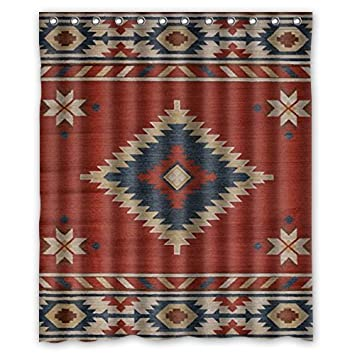 Perfect Southwest Native American Shower Curtain 60(W)x72(H) Inch With