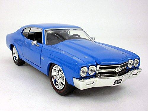 (Dub City Chevrolet Chevelle (1970) SS 1/24 Scale Diecast Model - Blue)