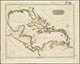 Historic Map | 1785 West India islands | Antique Vintage Reproduction