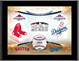 """Boston Red Sox vs. Los Angeles Dodgers 10.5"""" x 13"""" 2018 World Series Matchup Sublimated Plaque - MLB Team Plaques and Collages"""
