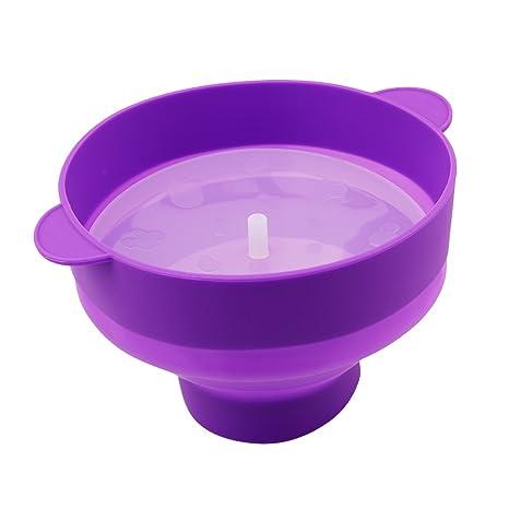 HS plegable microondas palomitas palomitero – Bol con asas de silicona con tapa sin BPA 1pieza