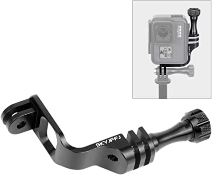 Aluminum Elbow Mount Vertical Mount 90 Degree Direction Adapter Compatible with gopro 8 7 6 5 Original Shell Vertical Photography Video Portait Images Helmet Mount