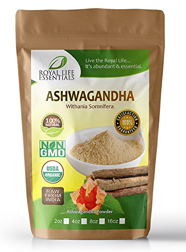 Ashwagandha Root Extract Powder 2oz - Now 100% Raw Organic Herbal Supplement Superfood - Boost Sexual Vitality Immune System Endurance Energy: Smoothies & Shakes: Vegan & Vegetarian: Anti-Stress