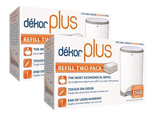 Diaper Dekor Plus Diaper Pail Liner Refills, 4 Count
