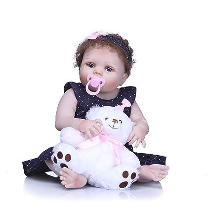22 Pulgadas Reborn Baby Dolls Vinilo De Silicona Completo ...