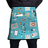 SBAGJG Apron With Pocket Anti-oil - Medical Tools Pattern Health Care Print Mode - Home Kitchen Garden Restaurant Cafe Bar Pub Bakery For Unisex