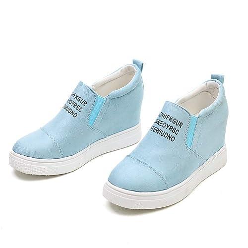 WEANT ღ Zeppa Stivali Plateau Moda Denim Sneakers Eleganti Scarpe Zeppe  Donna Ragazze Casual Vintage Scarpe per Primavera Estivi Sportive Scarpa  Sneakers ... ff663ad9463