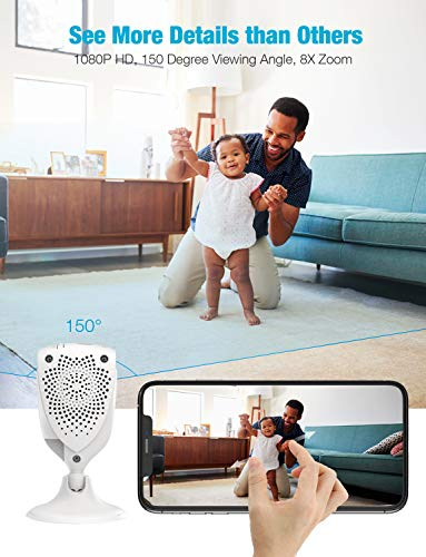 Home Camera, Conico 1080P HD Wireless Camera Pet Cam with Sound Motion Detection, Baby Cam Wireless Security Camera with 2- Way Audio, Night Vision Cloud WiFi Camera for Baby, Pet, Elder