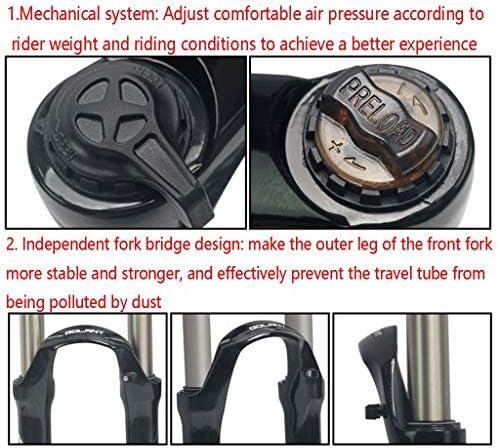 GXFWJD MTB バイクサスペンションフォーク24インチ オイル/スプリング ストレート28.6mm トラベル110mm ディスクブレーキ HL QR 9mm 自転車フォーク 1780g