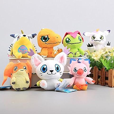 Digimon Digital Monster Agumon Gabumon Gomamon Palmon Patamon Piyomon Tailmon 4.5 Inch Toddler Stuffed Plush Kids Toys 7 (Digimon Tailmon)