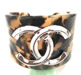 K C Luxury Woman Silver Luxury Cuff Bracelet Silver And Brown Bracetets