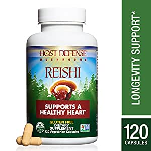 Host Defense - Reishi Capsules, Mushroom Support for Heart Health, 120 Count