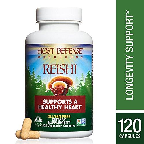 Host Defense - Reishi Capsules, Mushroom Support for Heart Health, 120 Count (FFP) (Reishi Mushroom)