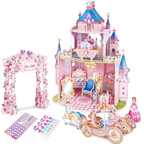 CubicFun 3D Kids Puzzle Princess Dollhouse Crystal for Girls and Adult, Princess Secret Garden