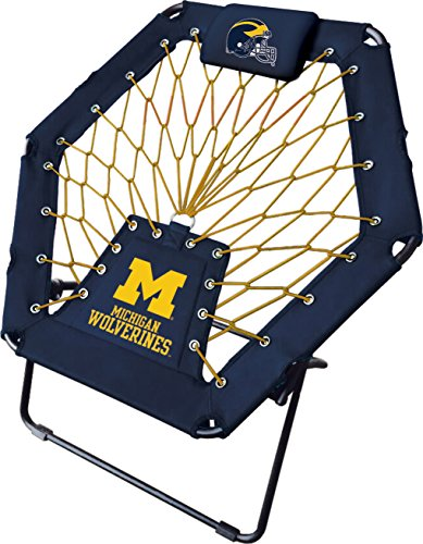 Imperial Officially Licensed NCAA Furniture: Premium Bungee Chair, Michigan Wolverines
