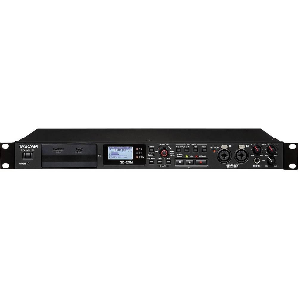 Negro Tascam sd-20/m Grabadora a Quattro Tracking a Estado S/ólido