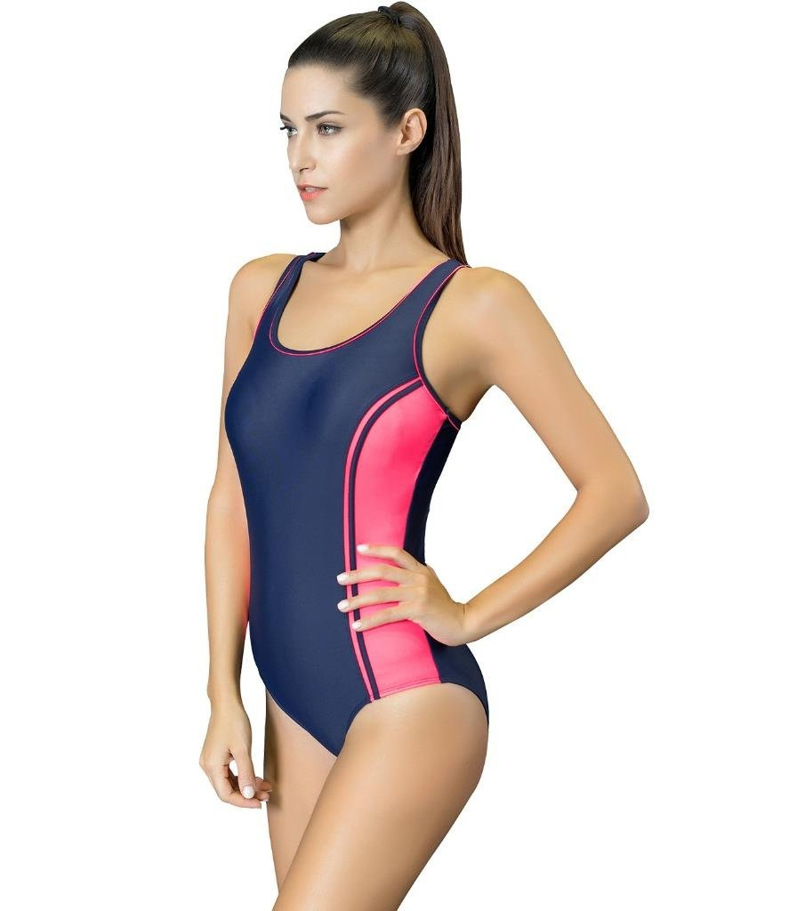 Arcweg Womens One Piece Swimsuit Racerback Sport Swimwear Size US 4-18