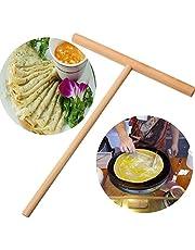 Crepe Maker Spreader Non-Stick Wooden Pancake Batter Spreader Stick Kitchen Cookware Utensil Tools (1pc)